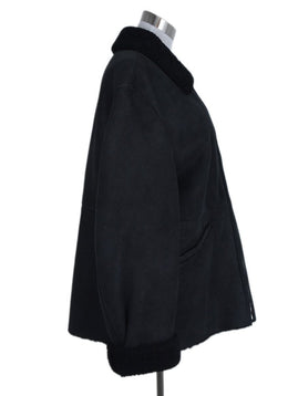 Jil Sander Black Shearling Coat Outerwear 2