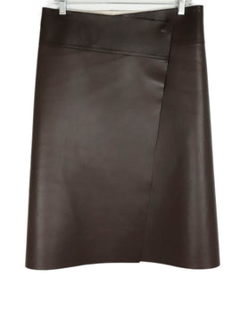Jil Sander Brown Leather Skirt 1