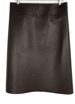 Jil Sander Brown Leather Skirt 2