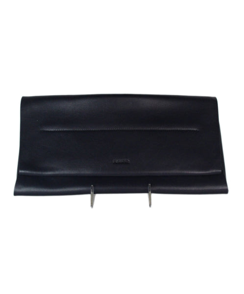 Jil Sander Navy leather clutch 1