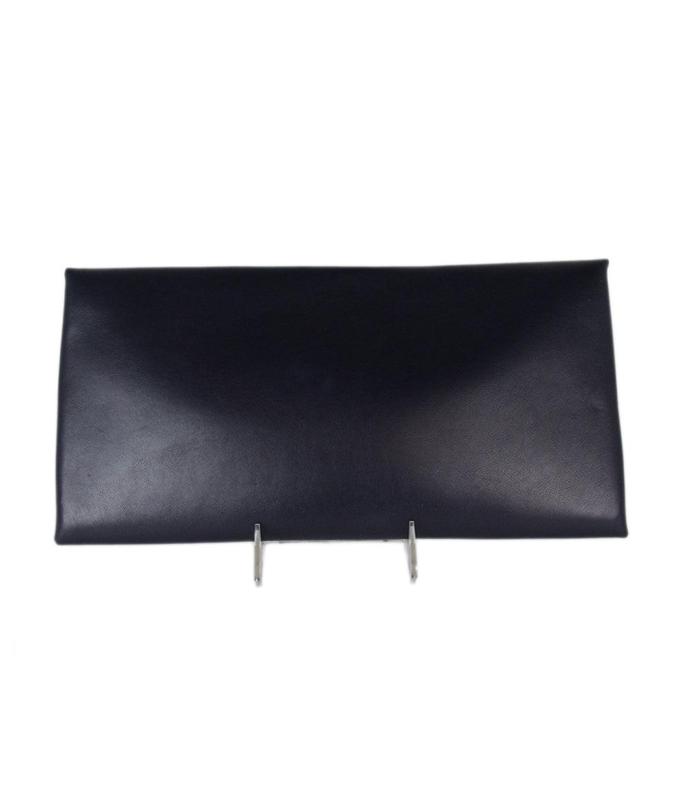 Jil Sander Navy leather clutch 3
