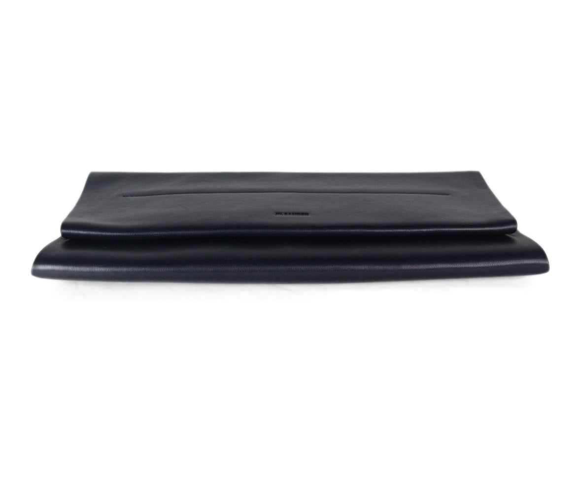 Jil Sander Navy leather clutch 4
