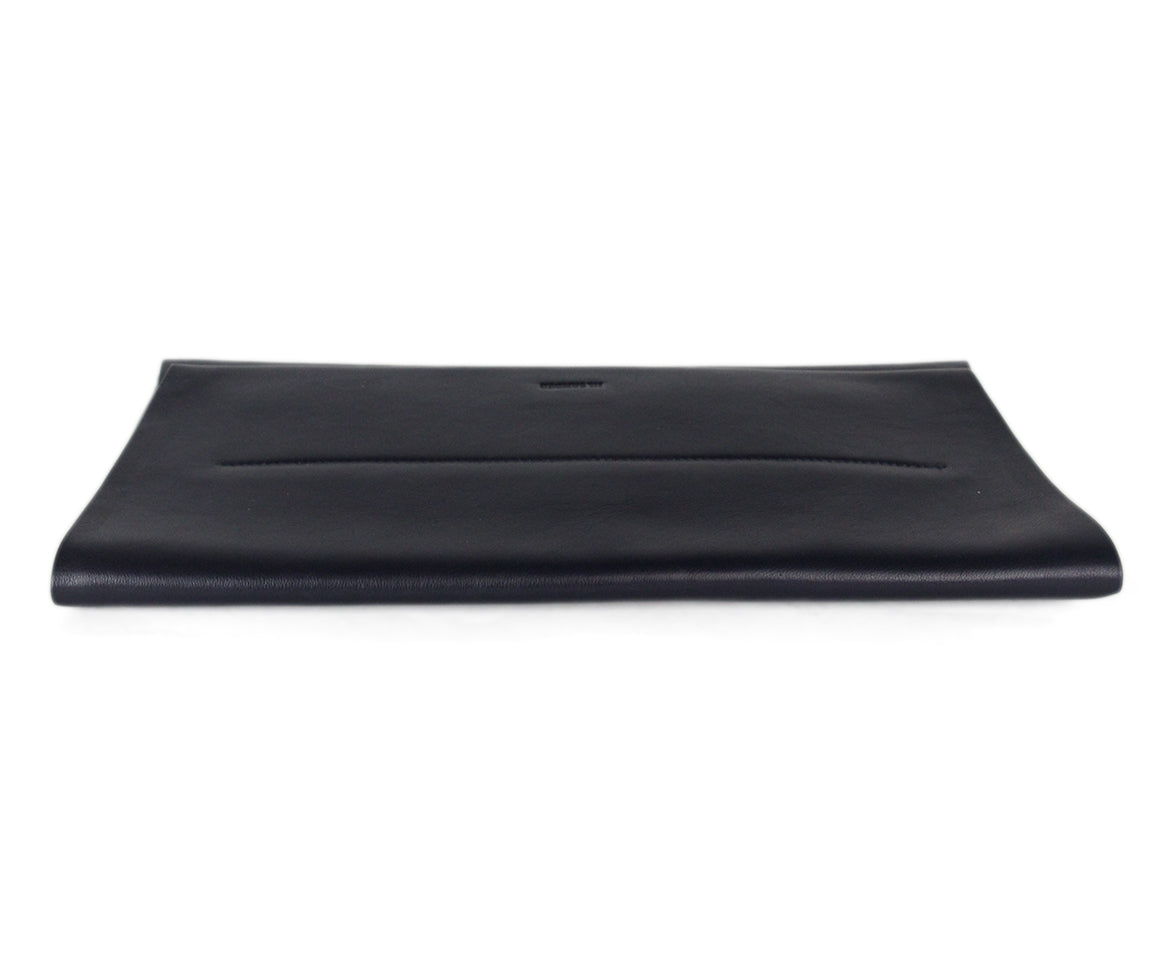 Jil Sander Navy leather clutch 5
