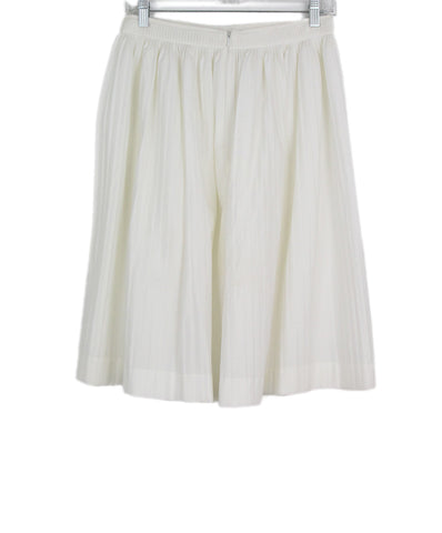 Jil Sander White Pleated Cotton Skirt 1