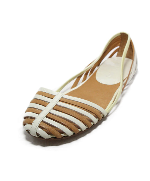 Jil Sander White tan leather sandals 1