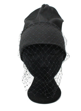 Jil Sander Black Polypropylene Net Hat