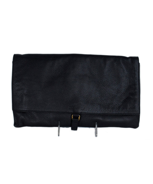 Jil Sander Black Leather Clutch Handbag 1