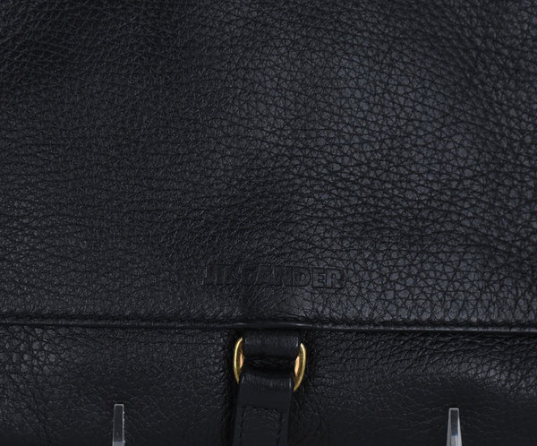Jil Sander Black Leather Clutch Handbag 7