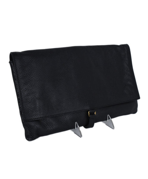 Jil Sander Black Leather Clutch Handbag 2