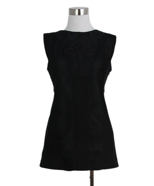 Jil Sander black net trim sleeveless top 1