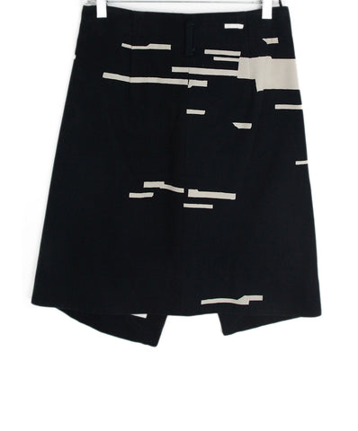 Jil Sander blue navy white skirt 1