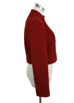 Jil Sander Red Wool Cropped Jacket 2