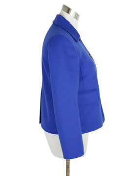 Jil Sander Blue Royal Cashmere Jacket 2