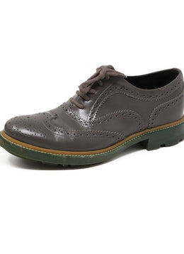 Jil Sander Grey Leather Oxford