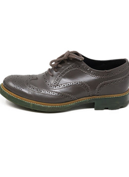 Jil Sander Grey Leather Oxford 1
