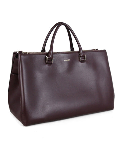 Jill Sanders Burgundy Leather Tote 1