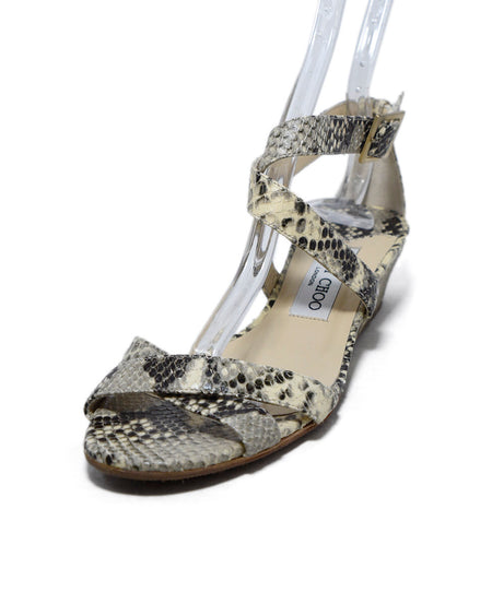 Jimmy Choo Beige Patent Leather Sandals Sz. 38.5