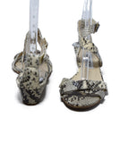 Jimmy Choo Neutral Beige Brown Python Sandals 3