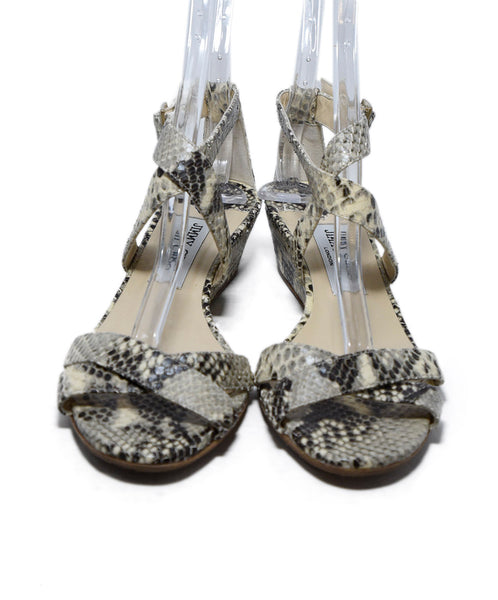Jimmy Choo Neutral Beige Brown Python Sandals 4