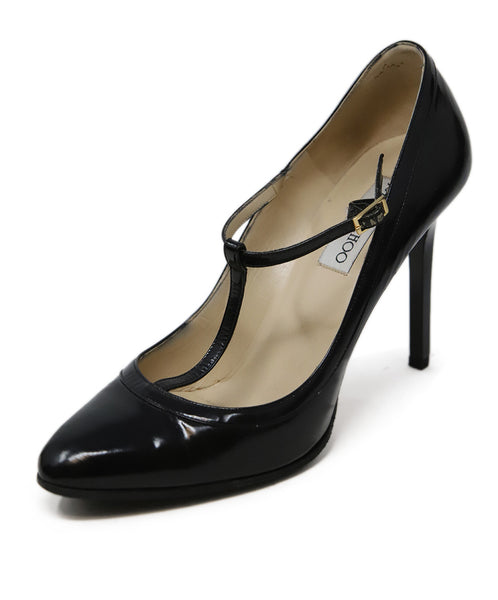 Jimmy Choo Black Leather Heels 1