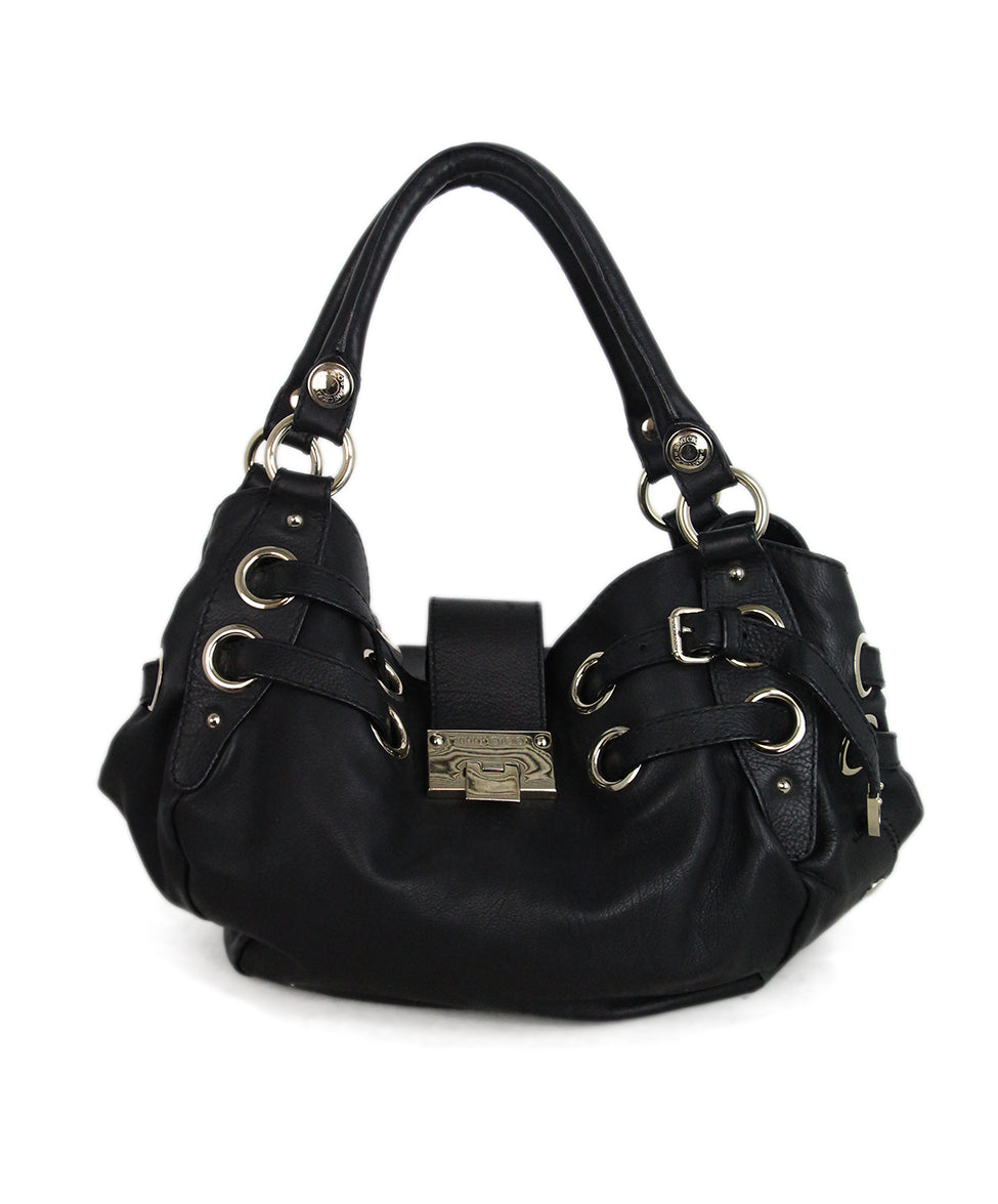 Jimmy Choo Black Leather Shoulder Bag 1