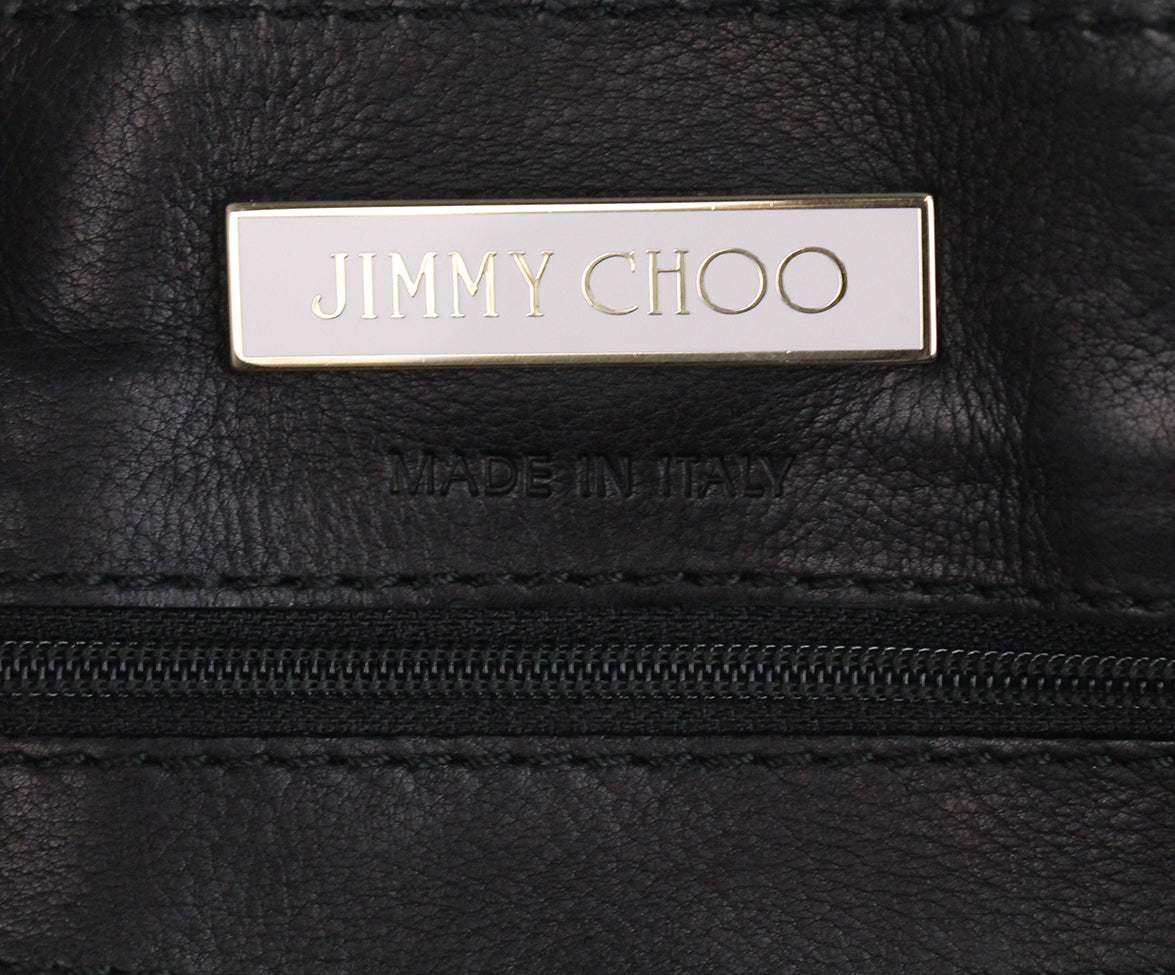 Jimmy Choo Black Leather Shoulder Bag 7