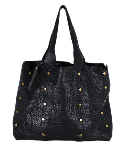 Jimmy Choo Black Leather Tote 1