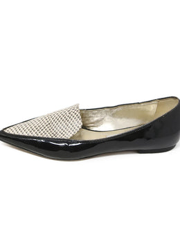 Jimmy Choo Black Patent Leather Flats 2