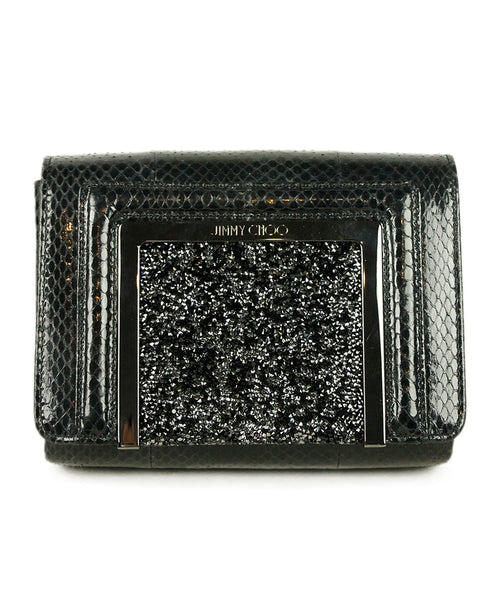 Jimmy Choo Black Skin Jeweles Bag 1