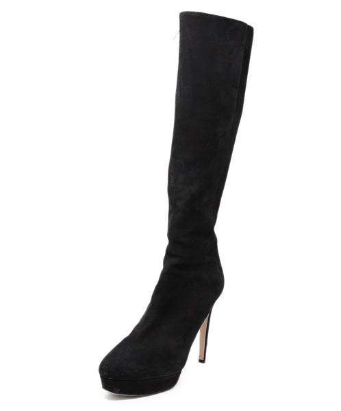 Jimmy Choo Black Suede Boots 1