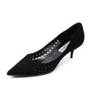 Jimmy Choo Black Suede Cutwork Heels size 8