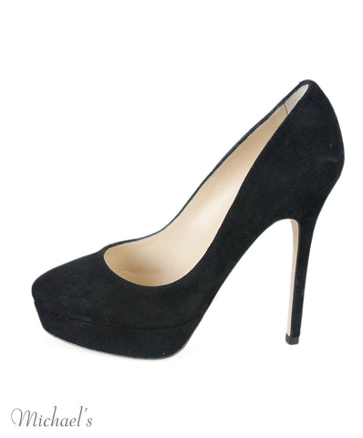 Jimmy Choo Black Suede Shoes Sz 36.5