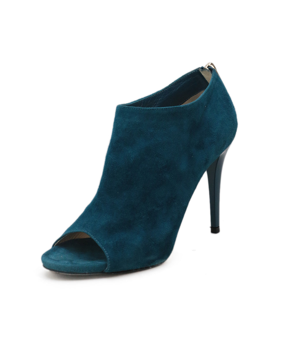 Jimmy Choo Blue Teal Suede Heels 1