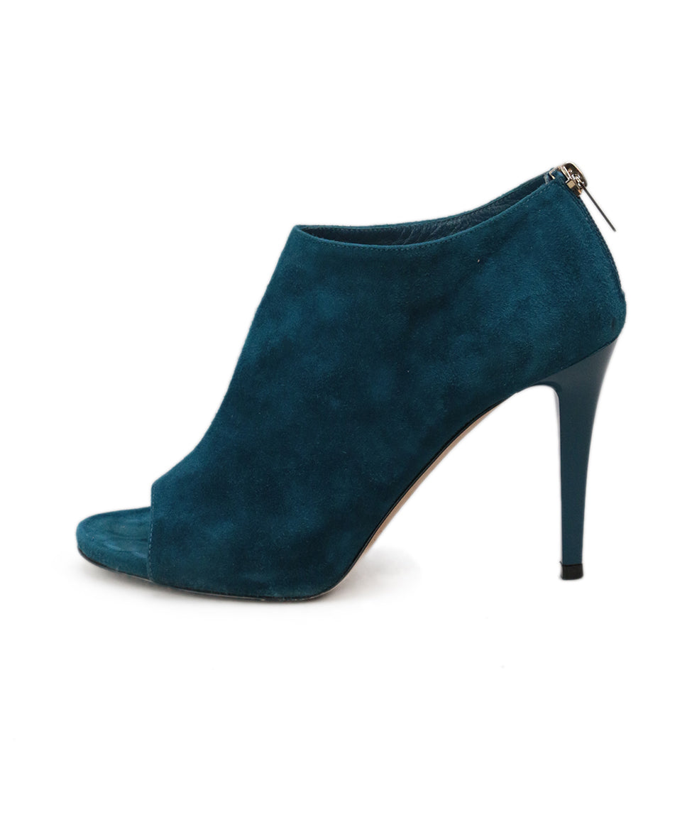 Jimmy Choo Blue Teal Suede Heels 2
