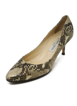 Jimmy Choo Snake Skin Print Leather Heels 1