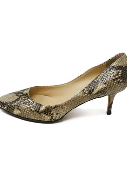 Jimmy Choo Snake Skin Print Leather Heels 2