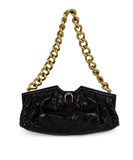 Jimmy Choo Brown Crocodile Handbag 1