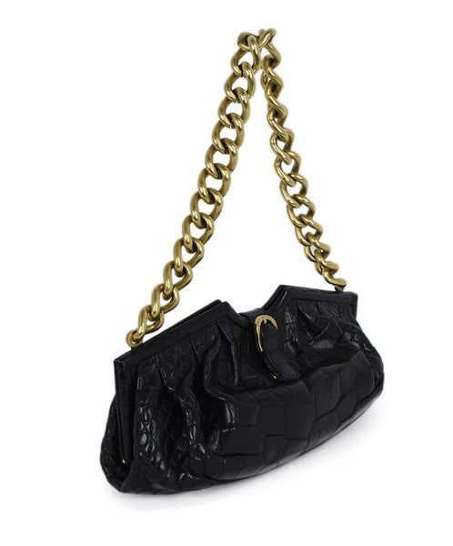 Jimmy Choo Brown Crocodile Handbag 2