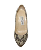 Jimmy Choo Brown Snake Skin Heels 1