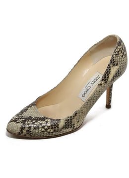 Jimmy Choo Brown Snake Skin Heels 2