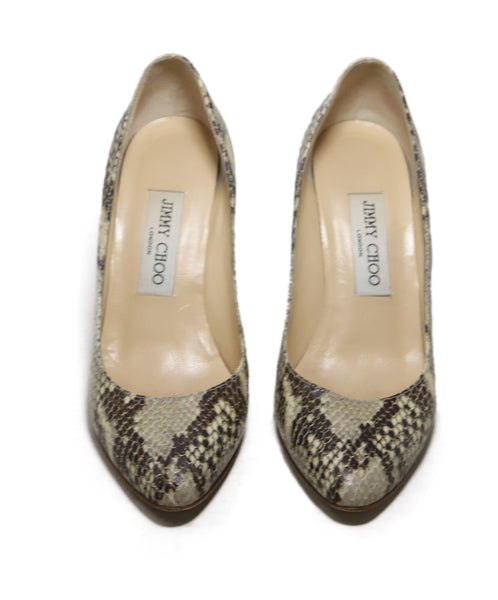 Jimmy Choo Brown Snake Skin Heels 3