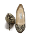 Jimmy Choo Brown Snake Skin Heels 4