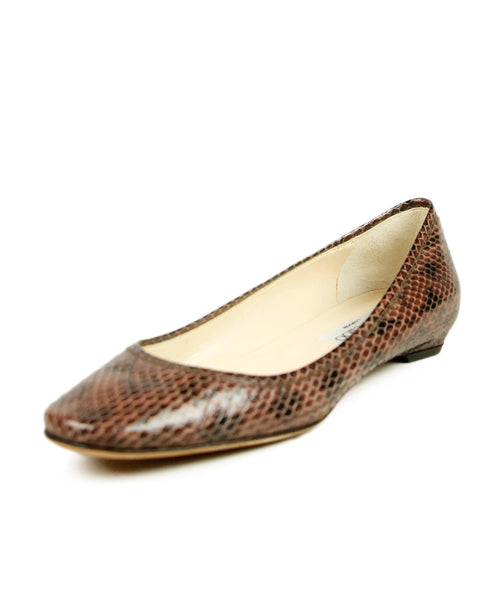 Jimmy Choo Brown Mauve Snake Skin Shoes 1