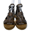Jimmy Choo Brown Leather Silver Studs Sandals 4