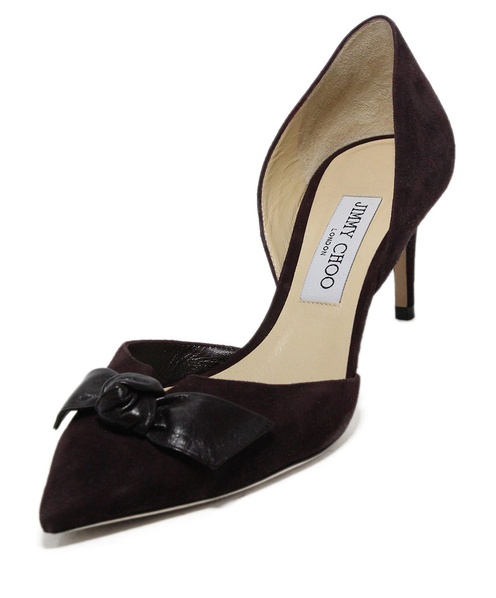 Jimmy Choo Brown Suede Bow trim Heels 1