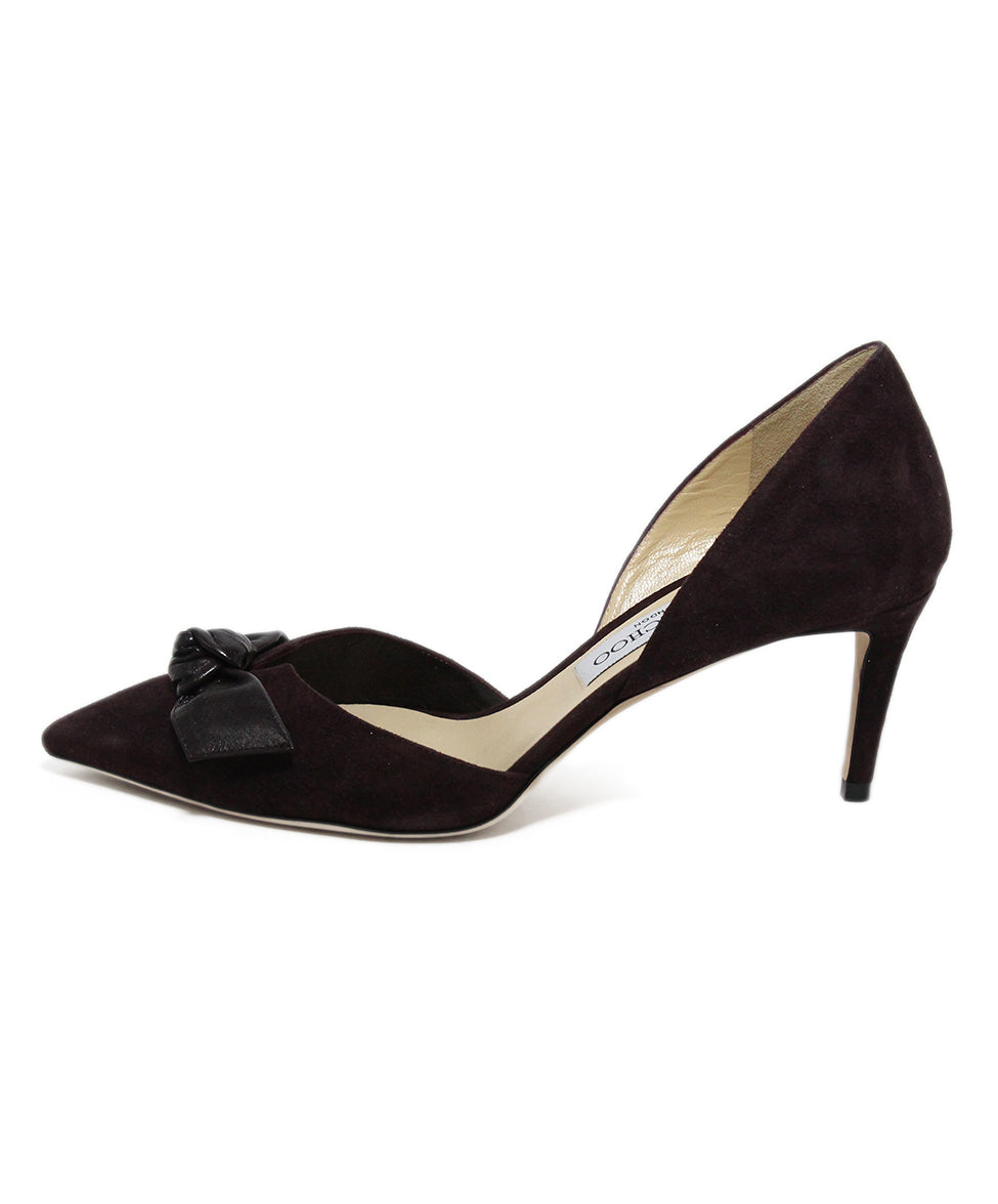 Jimmy Choo Brown Suede Bow trim Heels 2