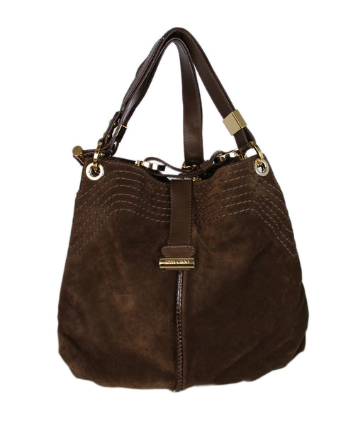 Jimmy Choo Brown Suede Hobo Bag 1