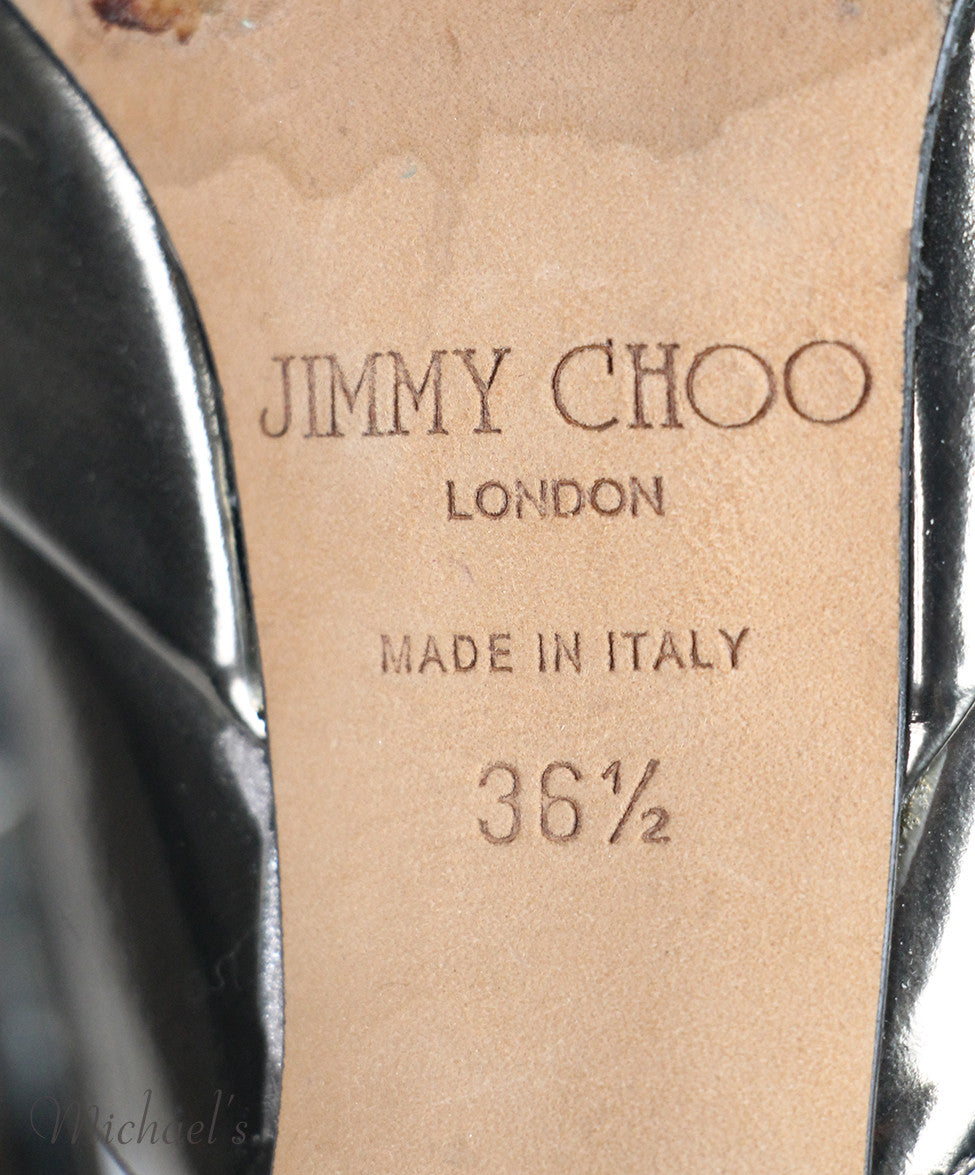 Jimmy Choo Metallic  Leather Shoes