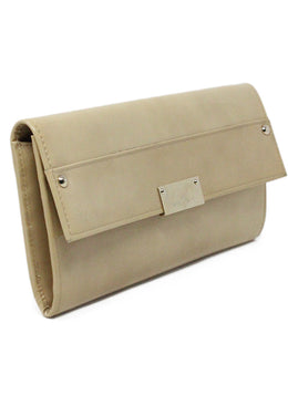 Jimmy Choo Neutral Beige Patent Leather Clutch 2
