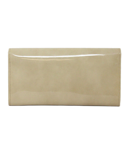 Jimmy Choo Neutral Beige Patent Leather Clutch 3